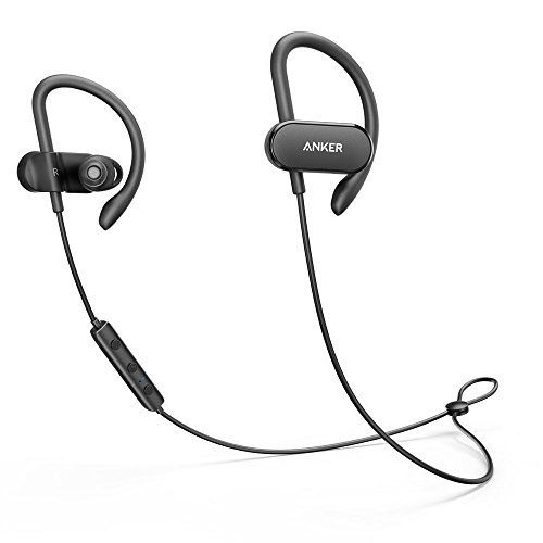 Wireless Headphones Anker SoundBuds Curve Bluetooth 4.1 Sports Earphones with 12.5 Hour Battery AptX Stereo Sound Waterproof Nano Coating Workout Headset with Built-In Mic and Carry Pouch