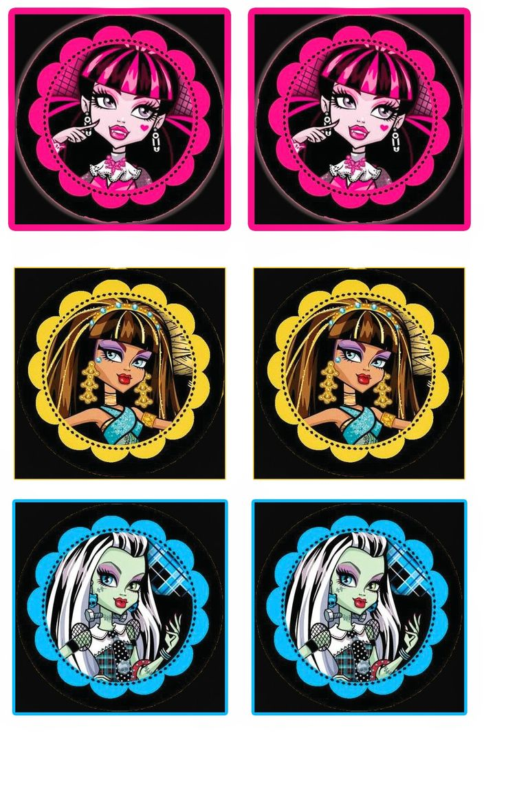 Monster High: Free Printable Wrappers Cupcake.