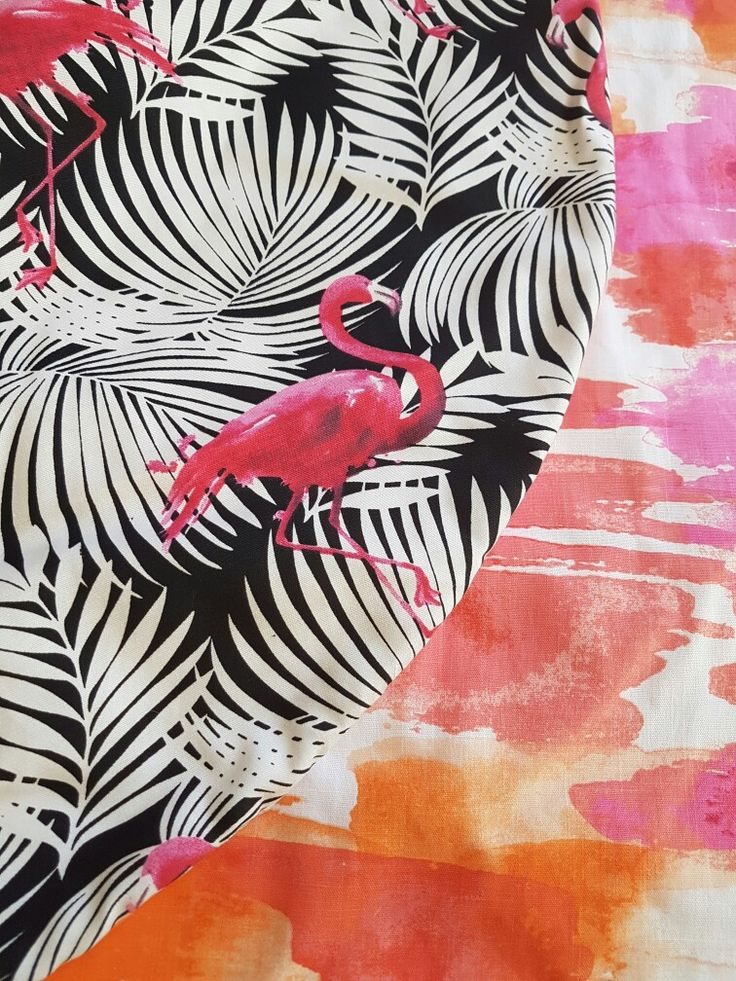 Flamingo and watercolour playmat. Canvas material so great for beach, park or backyard. Little Swan Designs.