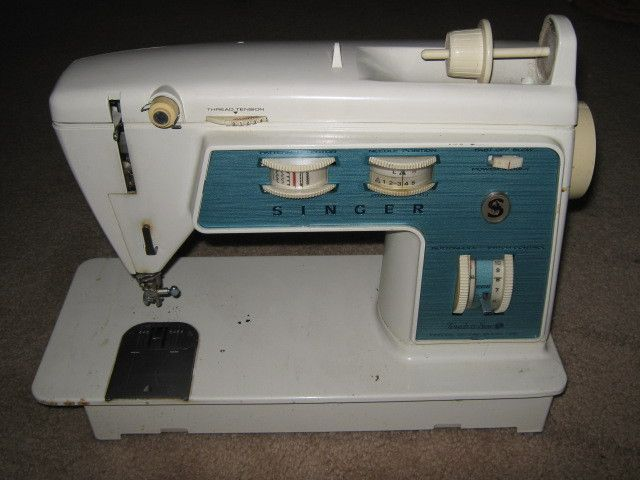 Singer Touch & Sew 756 - SIL gave me this machine which was left by previous owner of house she just bought. Needs foot pedal and cleaning and will be fun to have!