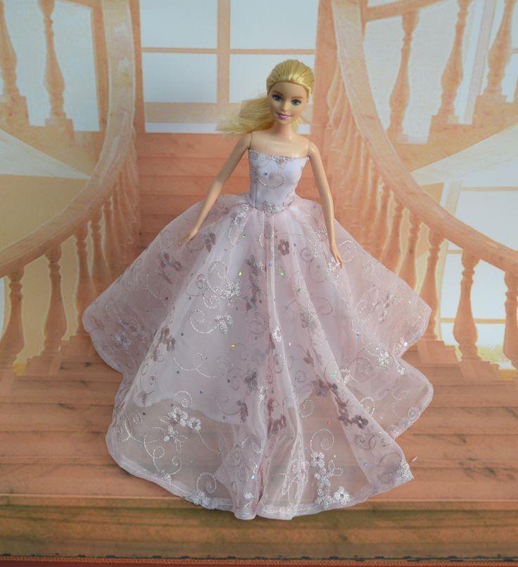 nuevo caso atractivo para el vestido de boda Barbie 1/6 ropa de la muñeca de boda blanco como la nieve Sueño