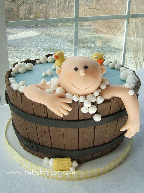 Washtub Baby Shower Cake