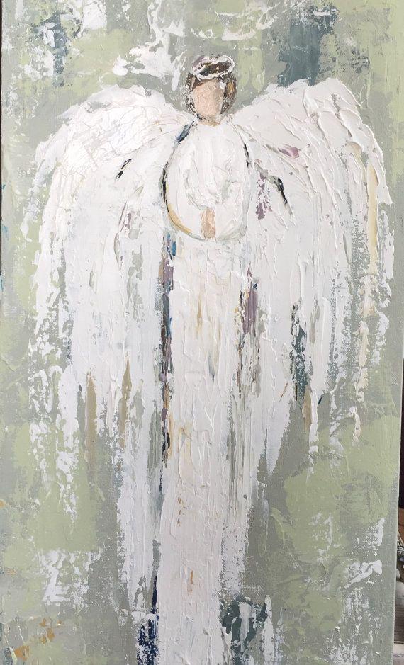 Pintura de Angel por RusticResouled en Etsy                                                                                                                                                                                 More