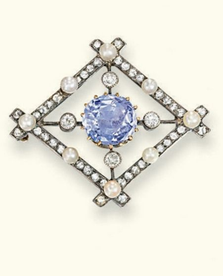 lozenge border violet best surround antique faberge shaped tatianazlobina cushion brooches on pins the pinterest cut openwork to sapphire with and old by pearl images diamond rose brooch