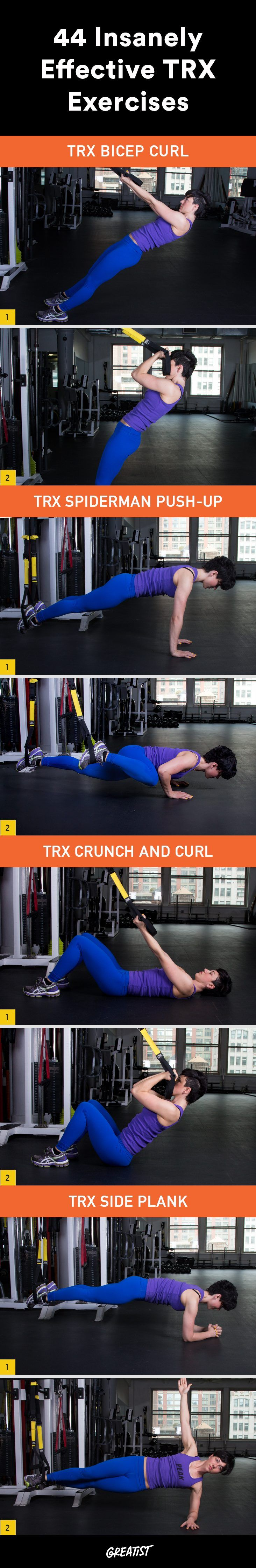 Maybe you've seen these black-and-yellow straps around your gym, but now it's time to put them to work.  https://greatist.com/fitness/effective-TRX-exercises