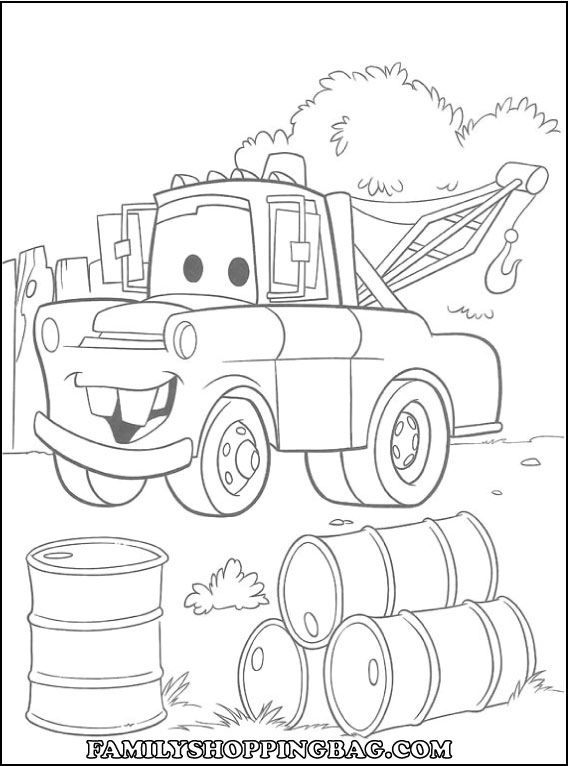 Disney Car Coloring Pages