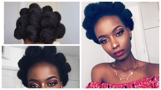 Afro Puff Out On 4c Natural Hair || Natural Hairstyles - YouTube