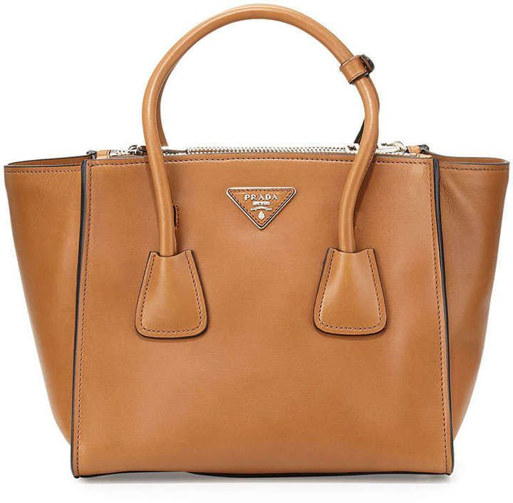 prada camel exotic leathers handbag