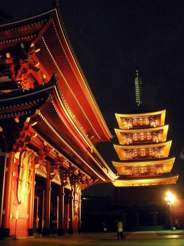 Red & Gold - Senso-ji Temple, Tokyo, Japan