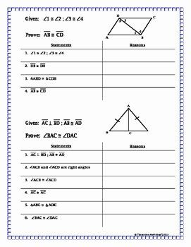 50 Congruent Triangles Worksheet with Answer in 2020 (With ...