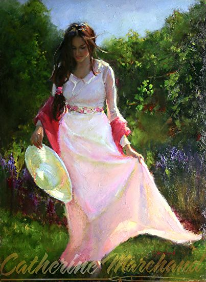 Mid Summer Stroll by Catherine Marchand Oil ~ 24 x 18