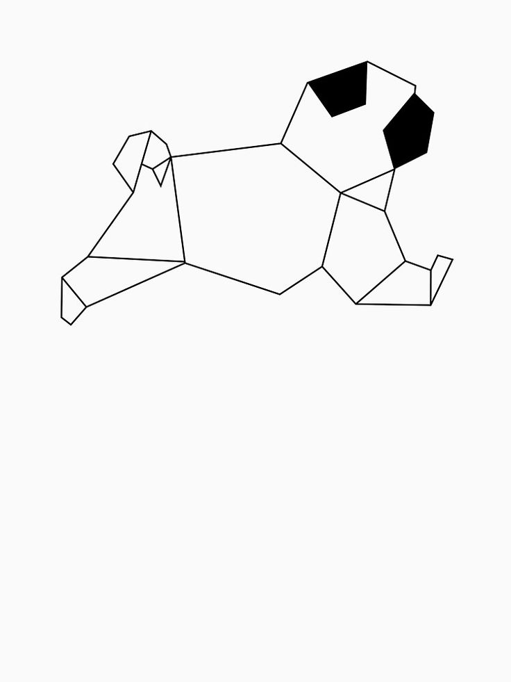 Image result for pug geometric drawing