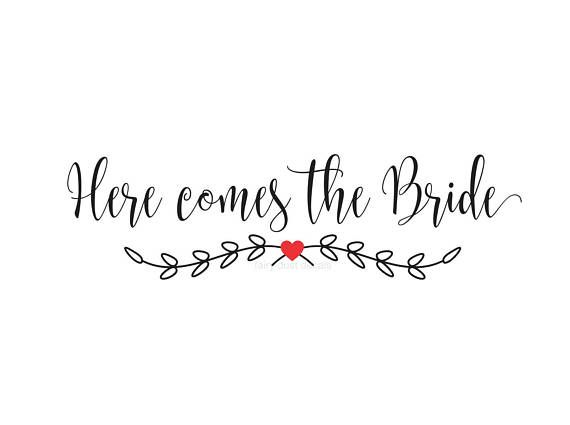 Decal for wedding, Here comes the bride, make your own sign, wedding decal, wedding sticker, farmhouse style, rustic boho, wedding sign