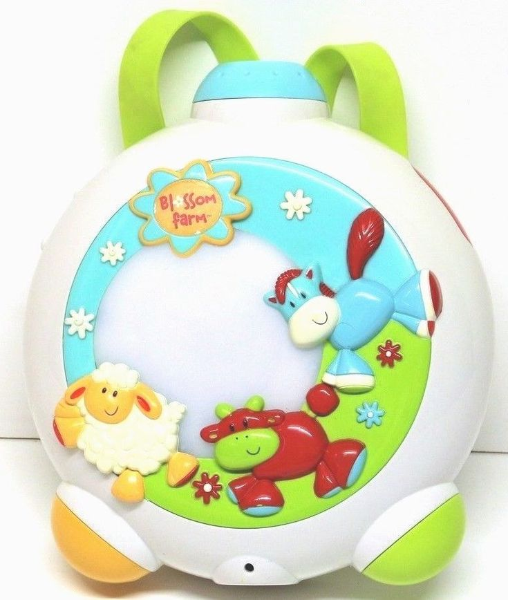 Blossom Farm Musical Lullaby Light Projector cot crib baby sound infant elc
