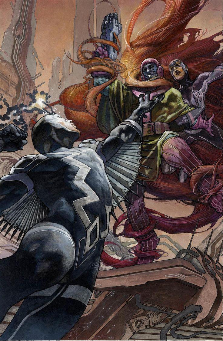 Kang the Conqueror (Nathaniel Richards) (Earth-6311) vs. Black Bolt (Blackagar Boltagon) | Uncanny Inhumans #0 - The Return of the King