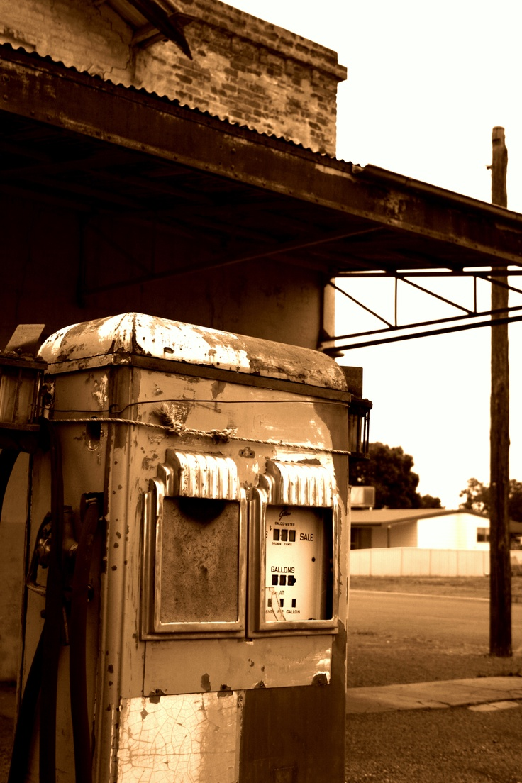 Old Petrol pump - Cobar NSW Australia This is Totally right out my back door!!