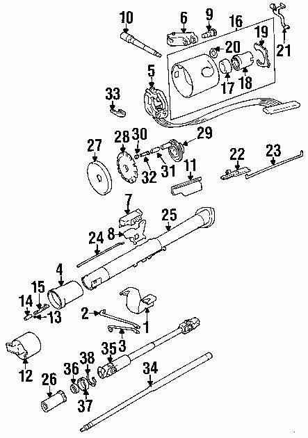 Awesome 1995 Jeep Wrangler    Steering       Column       Diagram      Jeep