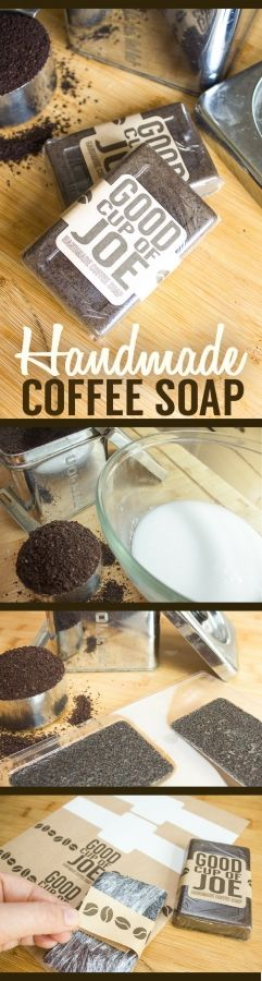 DIY coffee soap with label