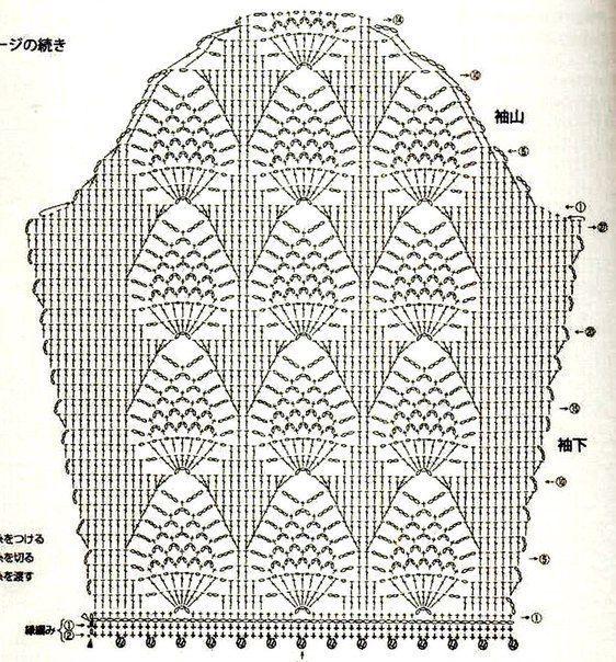Вяжем рукава, подборка схем 2 | Вязание, Крючком схема ...