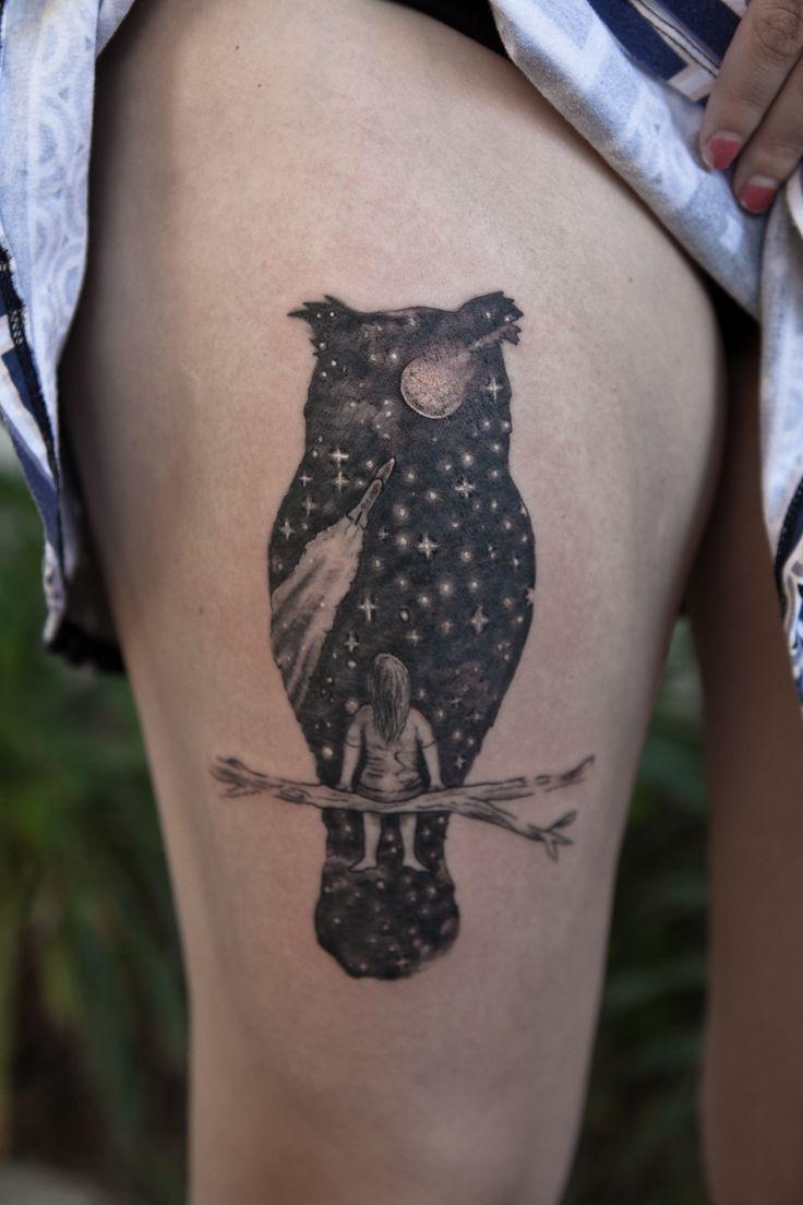 owlmoon - Darryl Hanna | Tattoo | Austin, TX