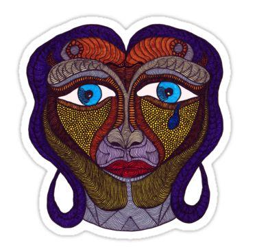 One Alien Tear Sticker by StickerNuts