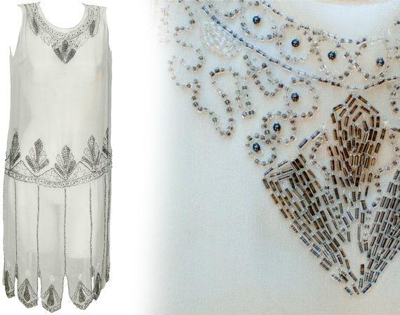 années 1920 petite robe Flapper Drop cintrée sac par TopangaHiddenT