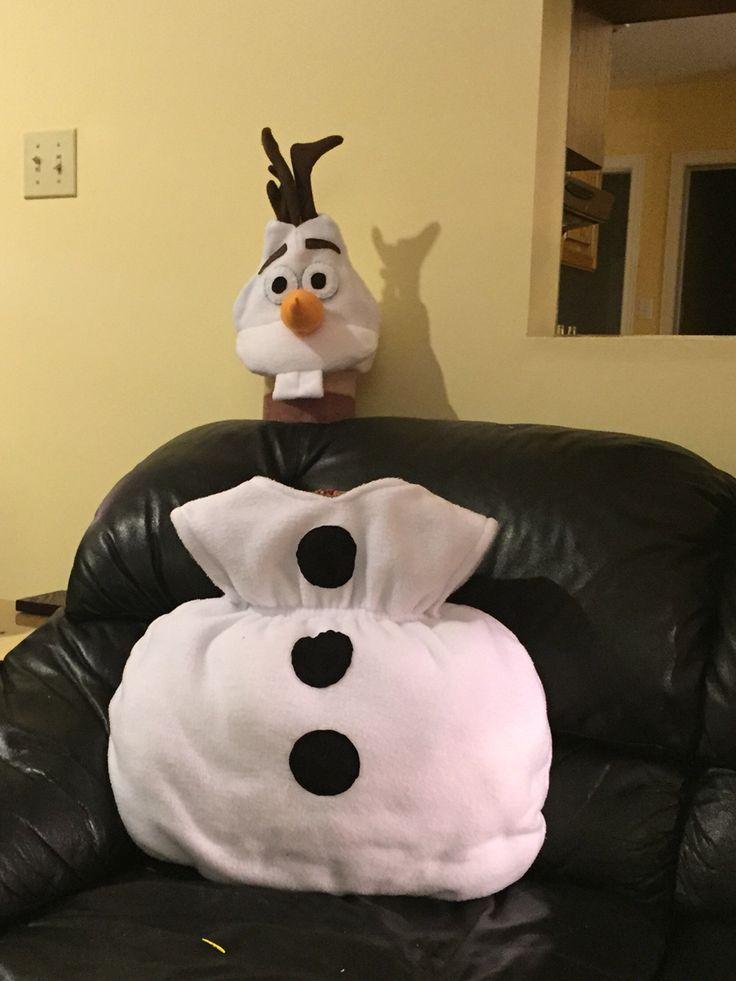 My DIY Olaf costume and Olaf fleece hat