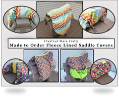 MADE to ORDER English All Purpose, Pony, or Dressage Saddle Cover:  REVERSIBLE Fleece Lined Cotton