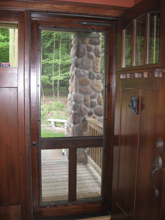 17 best images about swinging screen doors on pinterest for Exterior doors with screen insert