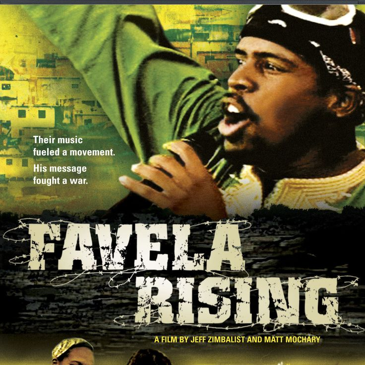 """Favela Rising"" (2004) - a 2005 documentary film by American directors Jeff Zimbalist and Matt Mochary. The film focuses on the work of Anderson Sá, a former drug trafficker who establishes the grassroots movement AfroReggae."