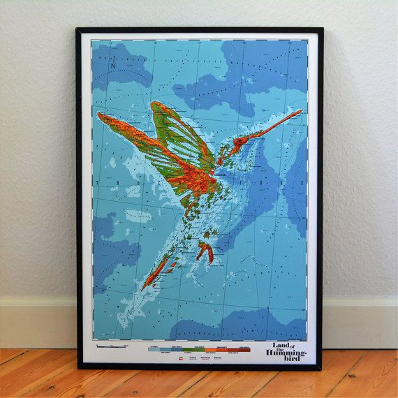 Trochilidae  Land of the Humming Bird by DauDaw on Etsy
