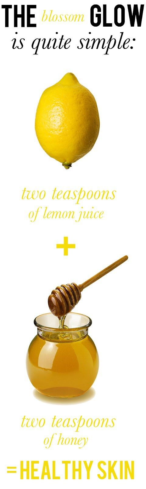 DIY Face Mask. - The lemon help with the dark marks and the honey moisturizes your skin!
