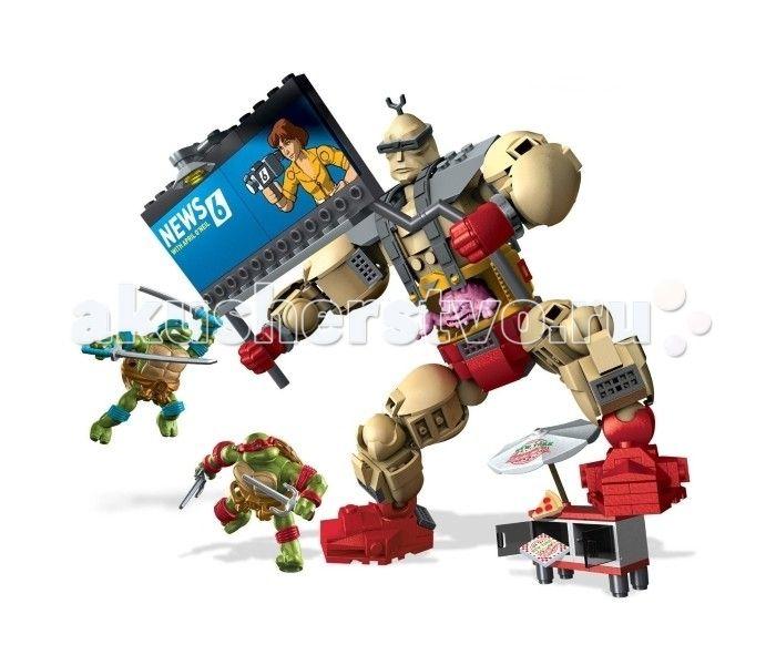 Konstruktor Mega Bloks Mattel Cherepashki Nindzya Kreng Protiv