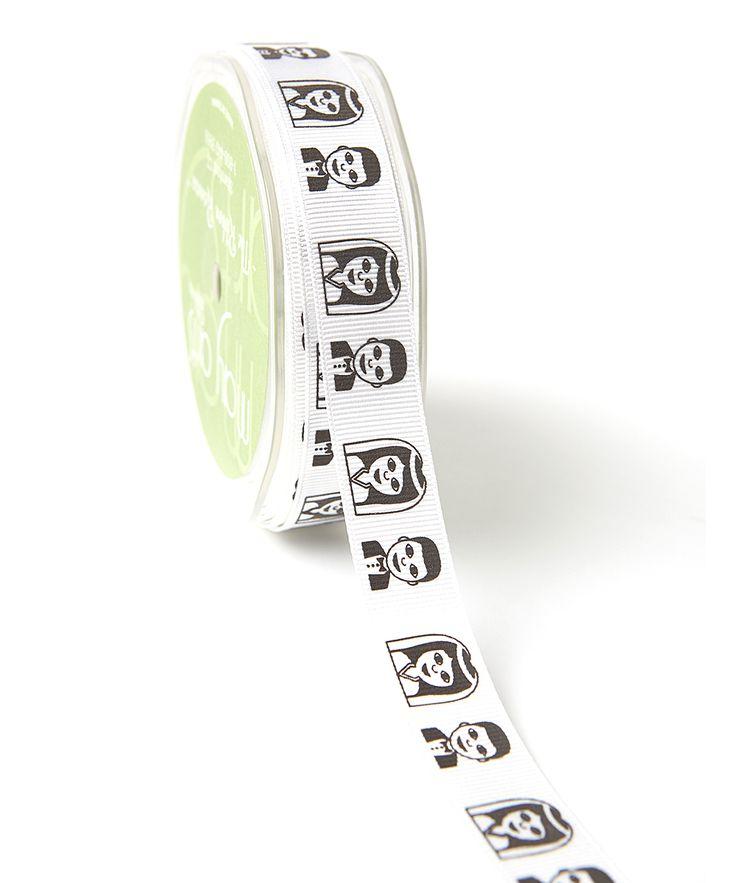0.75'' Bride & Groom Emoji Grosgrain Ribbon