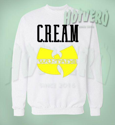 Cream Wu Tang Hip Hop Legend Sweatshirt, Cheap Urban Clothing For Men //Price: $27.50//     #menurbanclothing