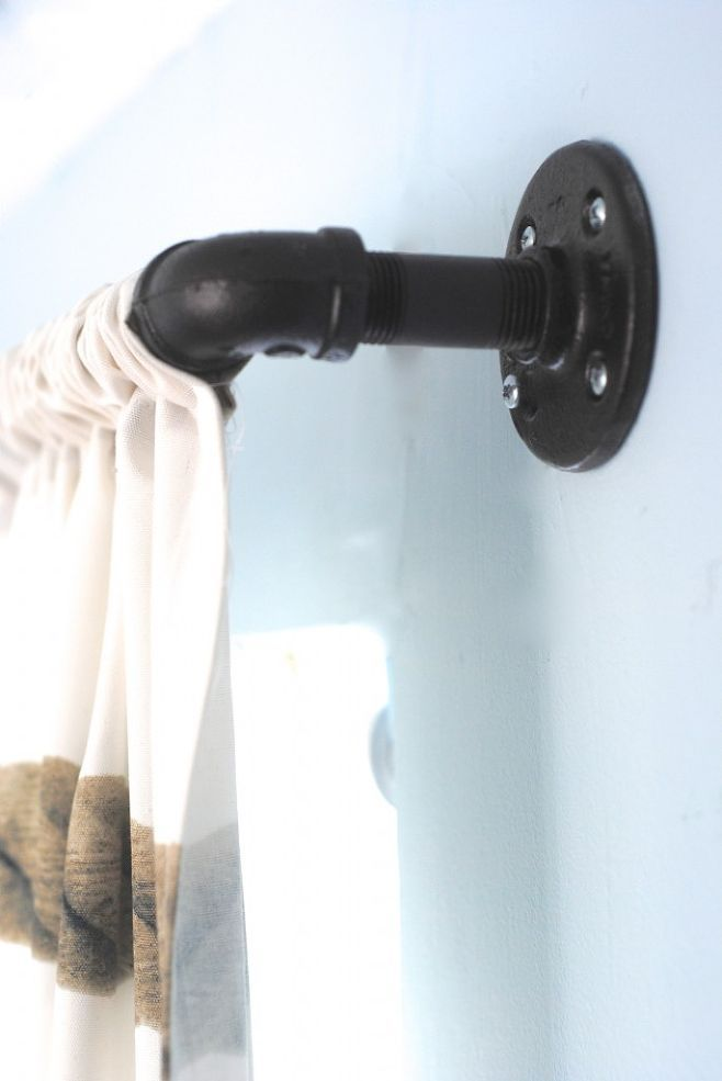 Hometalk :: Finding Style in the Plumbing Aisle! {Industrial Pipe Curtain Rods}