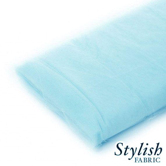 Aqua Blue Tulle Fabric Wedding Tulle Fabric by StylishFabric