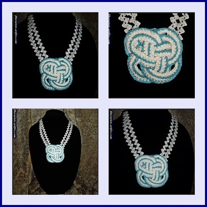 The Knott Collar/Necklace is my new addition to the FiberArtEtc collection, crochet by using the Romanian Point Lace Techniques....  $38.00
