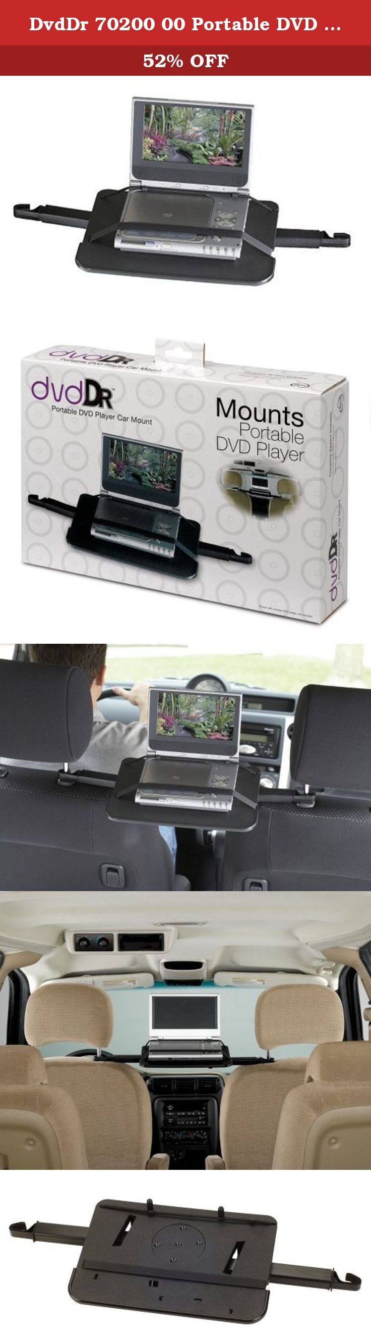 Dvddr 70200 00 portable dvd player car mount quick and easy way to secure portable dvd player in a carcompatible with portable dvd players with screens up