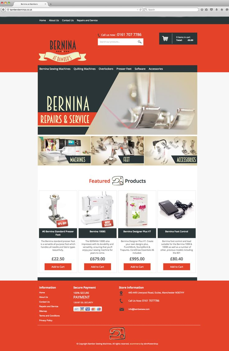 Graphics for Specialist Ecommerce site