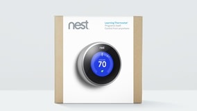 Nest V 2.0. Same learning and features as first version, but now even sexier by being 20% slimmer, and a new humidity sensor allowing to be connected to a whole home humidifier.  Still the same great price of $249.99.  Designed by the creator of the iPod.