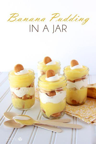 banana pudding in a jar! www.howdoesshe.com