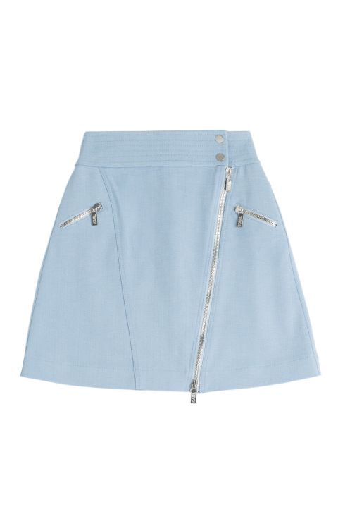 The mini skirt is everywhere this spring! Shop this Karl Lagerfeld Cotton Skirt with Zipper plus 13 others.