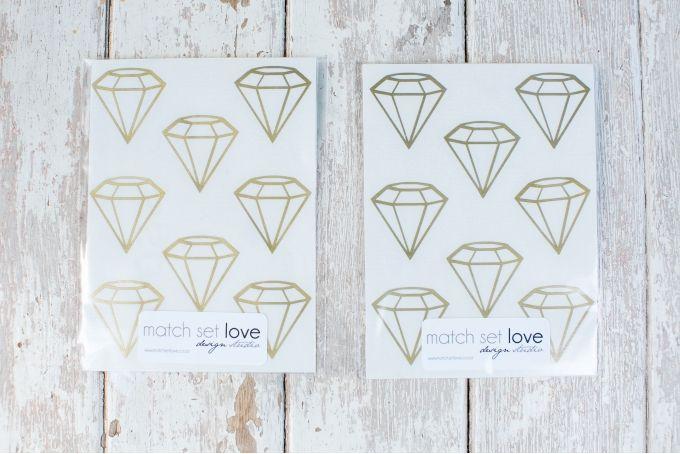 Diamond shaped Vinyl Stickers by Lovilee on hellopretty.co.za