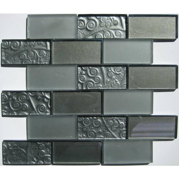 glass tile backsplash or bathroom