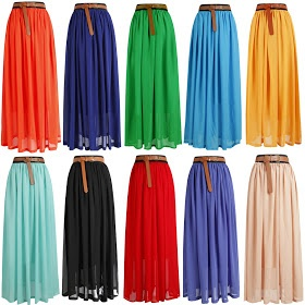 Colorful maxi skirts for just $11!!!