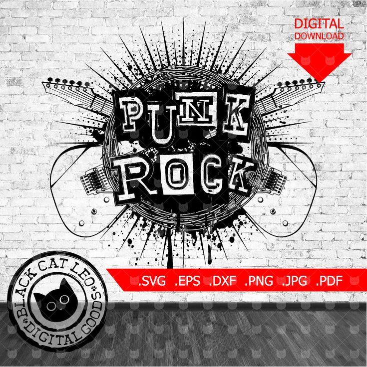 Punk rock vector grunge t shirt tattoo design Punk rock