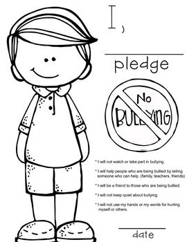 Bully Prevention - PowerPoint, Posters and Pledge Certificate