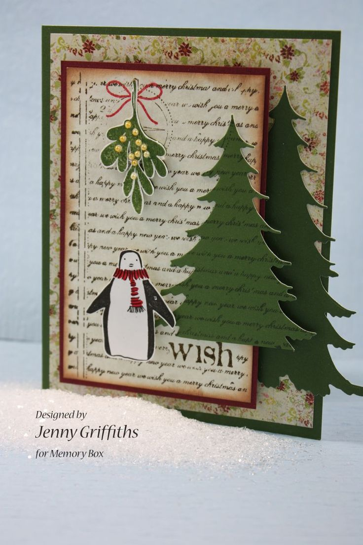 420 best cards christmas trees images on pinterest christmas memory box stamps mistletoe bundle wish collage bundled penguin and look memory box dies frosted christmas trees kristyandbryce Image collections