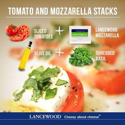 Enjoy these scrumptious Tomato and Mozzarella stacks to ward off those Monday blues.